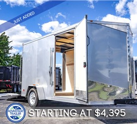 MTI 7'x12' Enclosed Cargo Trailer - Silver