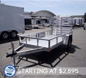 All Aluminum 5' x 10' Open Utility Trailer