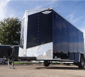 6' x 12' Black Cargo Trailer with Dual Rear Swing Doors