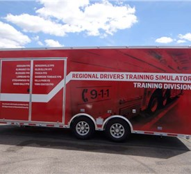 8.5' x 22' Emergency Vehicle / Apparatus Driving Simulator