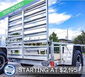 Formula Ghost 5'x8' Open Utility Trailer with Wood Floor