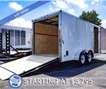MTI 7'x16' Enclosed Cargo Trailer - White