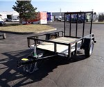 5' x 8' Black Sure-Trac Tube Top Utility Trailer