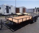 Open Black 6.5' x 16' Utility Trailer by U.S. Cargo – Forest River
