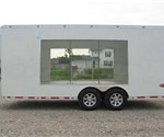 ATC Aluminum Clear Glass Side Display Exhibit Custom Trailer