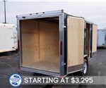 6' x 12' Steel Black Cargo Trailer with Dual Rear Swing Doors