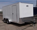 Enclosed Polar White 7' x 14' Landscape Trailer by ATC – Aluminum Trailer Company
