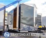 MTI 6'x12' Enclosed Cargo Trailer - Charcoal
