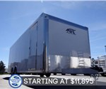 Enclosed 8.5' x 24' Polar White Car Hauling Trailer built by ATC