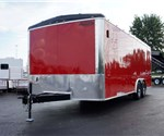 Custom 20' Red Landscaping Trailer