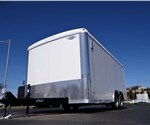 8.5' x 16' White Cargo Trailer with Rear Ramp Door