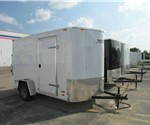 ENCLOSED CARGO TRAILER 6' X 10' + 2' WEDGE