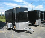 ALUMINUM CARGO TRAILER 5' x 8'+2' WEDGE NOSE