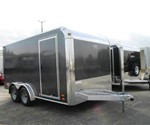 7.5' x 14' ALUMINUM MOTORCYCLE TRAILER