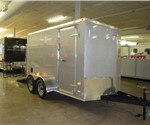 2014 American Hauler Cargo Trailer With Wedge Nose and Ramp Door