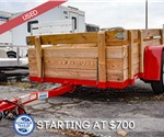 USED 7'x14' Open Utility Trailer with Wood Sides