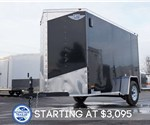 5' x 10' Black Cargo Trailer with Rear Ramp Door