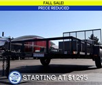 Open Black 6.5' x 12' Utility Trailer by U.S. Cargo – Fall Sale!