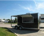 7' x 18' BBQ Or Food Service Concession Trailer with 6' Porch