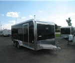 Aluminum Enclosed Motorcycle Trailer With Finished Interior 7.5' x 16'