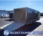 Medium Charcoal 8.5' x 20' Enclosed Car Hauler