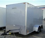 Enclosed Silver 7' x 14' Motiv Cargo Trailer