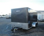 Enclosed Medium Charcoal 7' x 14' Motiv Cargo Trailer