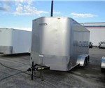 Enclosed Silver 7' x 16' Motiv Cargo Trailer with 2' Nose Wedge