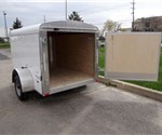 White 5' x 8' Enclosed Cargo Trailer