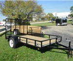 "Open Black 6' 4"" x 10' J.B. Enterprise Utility Trailer"