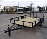 Open Black 6.5' x 10' U.S. Cargo – Forest River Utility Trailer