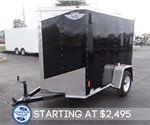 5' x 8' Black Cargo Trailer with Rear Double Swing Doors