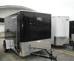 Enclosed Black 6' x 10' Motiv Cargo Trailer