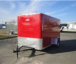 Enclosed Victory Red 6' x 12' Motiv Cargo Trailer