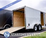 MTI 7'x14' Enclosed Cargo Trailer - White