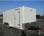Enclosed Polar White 7' x 16' Motiv Cargo Trailer
