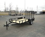 Open Black 5' x 10' J.B. Enterprise  Utility Trailer
