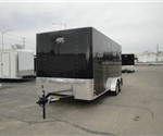 Enclosed Black 7' x 16' Motiv Cargo Trailer
