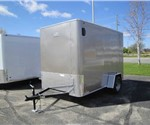 Enclosed Light Pewter Metallic 6' x 10' Aluminum Trailer Company Cargo Trailer