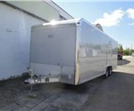 Enclosed Silver Frost 8.5' x 24' Aluminum Trailer Company Car Hauler