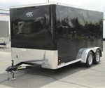 Enclosed Black 7' x 14' ATC – Aluminum Trailer Company Cargo Trailer