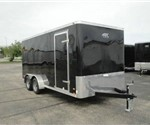 Enclosed Black 7' x 16' ATC – Aluminum Trailer Company Cargo Trailer