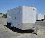 Enclosed Polar White 7' x 16' ATC – Aluminum Trailer Company Cargo Trailer with 2' Nose Wedge