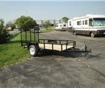 Open Black 5' x 10' U.S. Cargo – Forest River Utility Trailer
