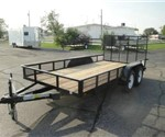 Open Black 6.5' x 14' U.S. Cargo – Forest River Utility Trailer