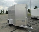 Enclosed Silver Frost 5' x 10' ATC – Aluminum Trailer Company Cargo Trailer with 2' Nose Wedge