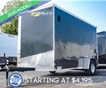 6'x12' Stealth Titan Enclosed Cargo Trailer - Charcoal