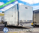 ATC 7'x16' Enclosed Cargo Trailer - White