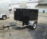 Enclosed Black 4' x 6' American Hauler Cargo Trailer