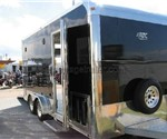 Aluminum ATC 7.5' x 18' Motorcycle / Toy Hauler Trailer with T1 Package